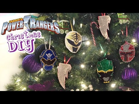 Power Rangers Christmas Tree.How To Make Power Rangers Christmas Diy Easy Ornaments Decorations Tutorial