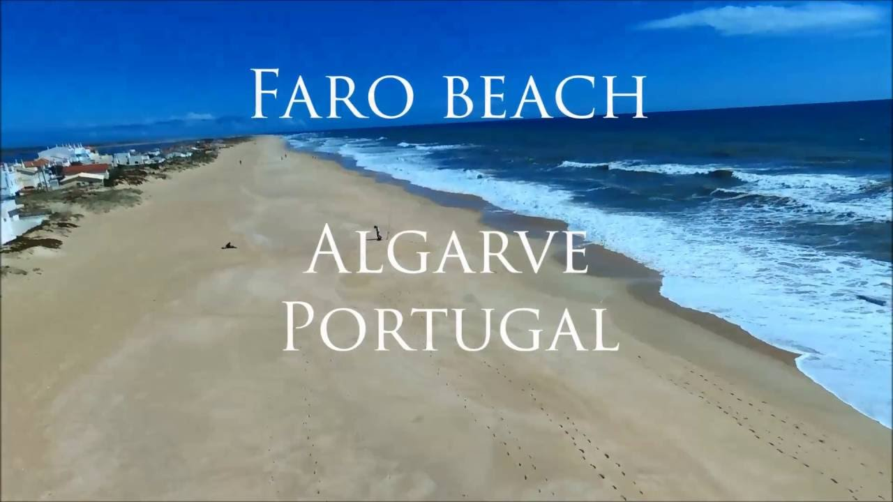 Faro beach, Portugal, drone HD video