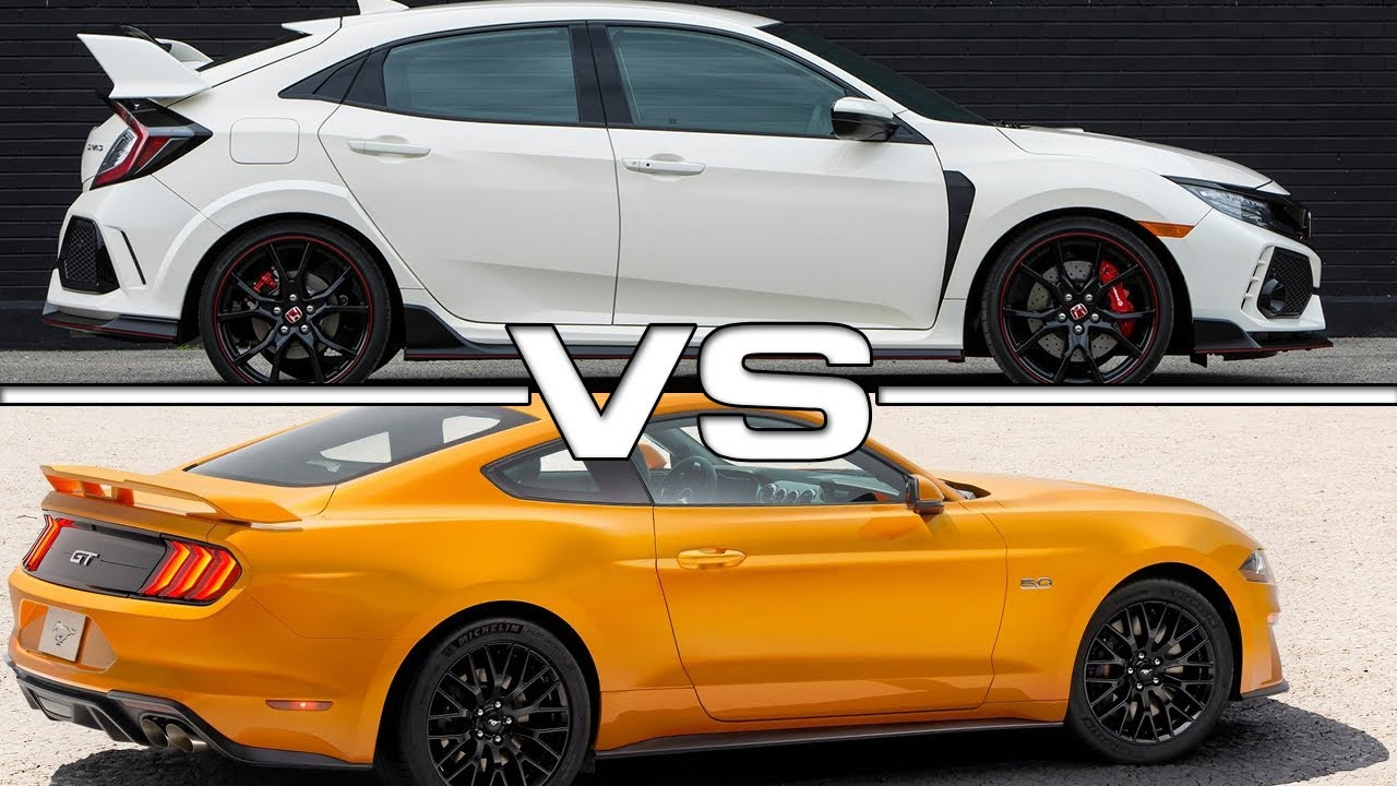2017 Ford Mustang Gt Premium >> 2018 Honda Civic Type R vs 2018 Ford Mustang GT - YouTube