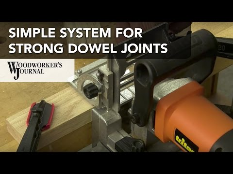 Strong and Simple Dowel Joints with Triton Doweling Joiner