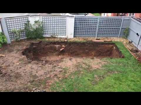New Koi Pond Build Part 1 - The Big Dig.