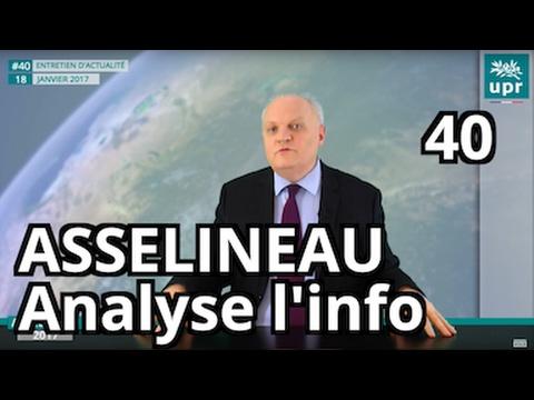 Déclarations de Trump - Hard Brexit - La gifle de Valls - L' analyse de F. Asselineau