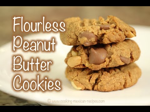 Homemade Flourless Peanut Butter Cookies Recipe With Chocolate Chips | Rockin Robin Cooks