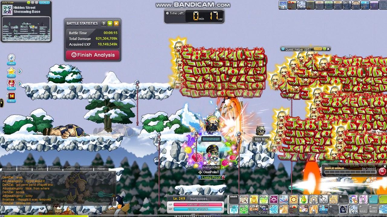 MapleStory Marksman in snow Pollo map