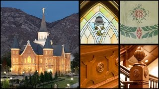 Architectural details of the Provo City Center Temple Video