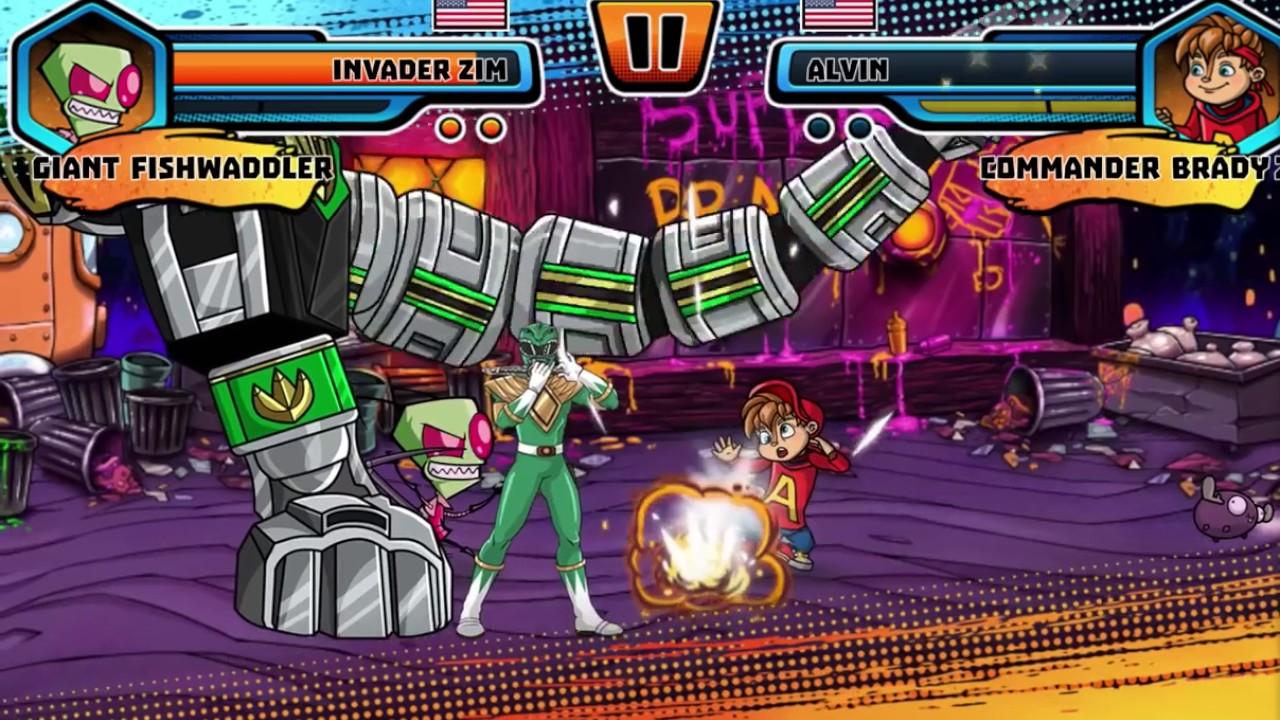 super brawl world invader zim has invaded the brawl nickelodeon