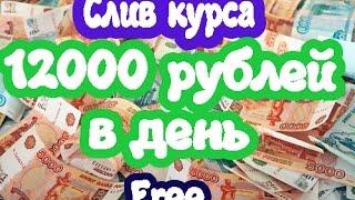 12000 рублей в сутки. Слив курса. Авто-программа для заработка