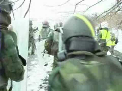 """CRC Exercise """"Silver Saber"""" (Crowd and Riot Control ) - KFOR/EULEX"""