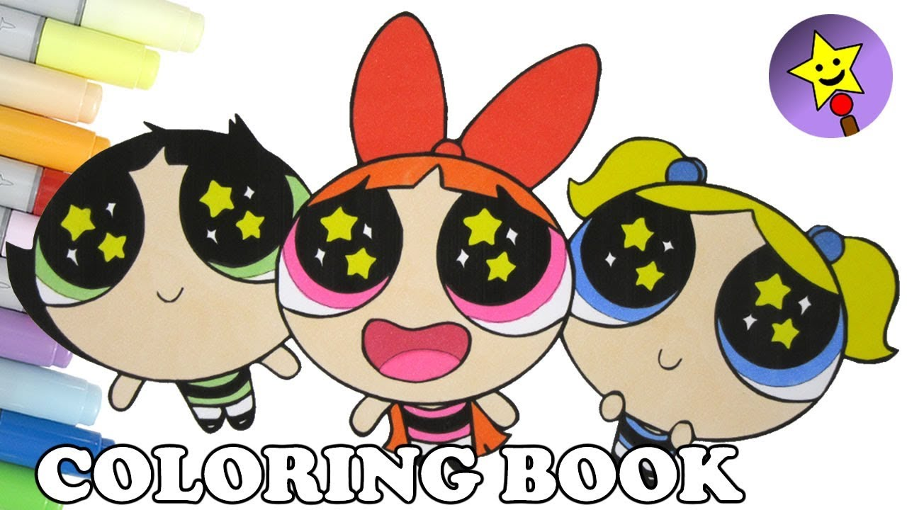 powerpuff girls coloring book blossom bubbles buttercup coloring