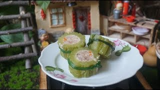 #Food video 🥒 How to make bitter melon stuffed with a small kitchen 🥒 Tiny Cooking   Hobby Cook #6