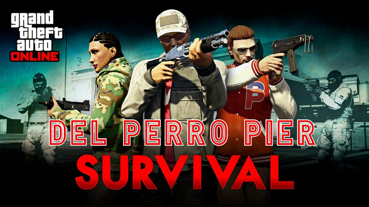 Attempting To Reach Wave 10 On Every GTA Online Survival #1 - Del Perro Pier