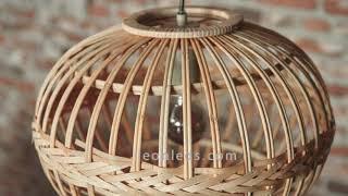 LÁMPARA DE MADERA ESTILO VINTAGE ||unboxing lámpara vegetal vintage #leonleds