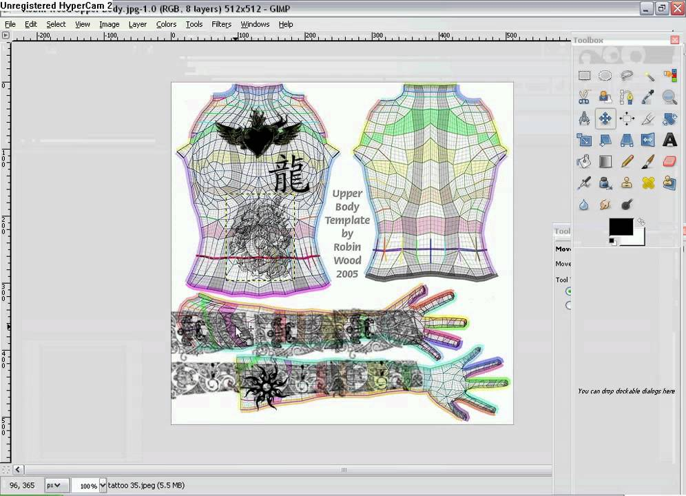 second life templates for gimp gimp tutorials tattoos unto second life youtube