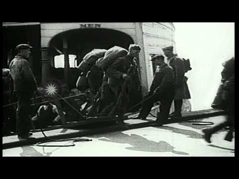 131st Infantry, 33rd Division AEF being processed as they prepare to embark to Fr...HD Stock Footage