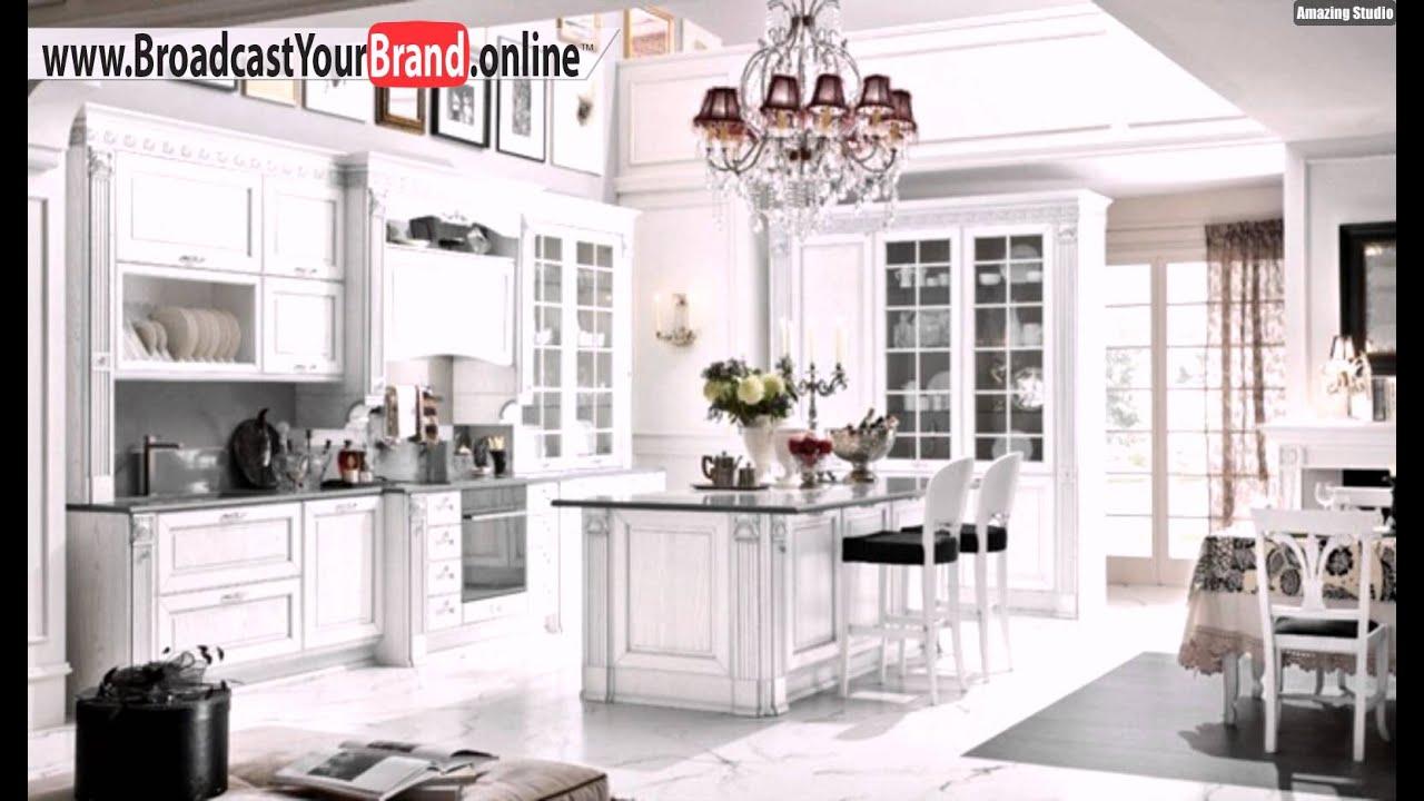 Weiße Klassische Küche Holz Trese Königlicher Stil - YouTube
