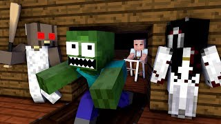 Monster School: GRANNY, SLENDERINA, GRANDPA, SCREAM vs Monster School - Minecraft Animation
