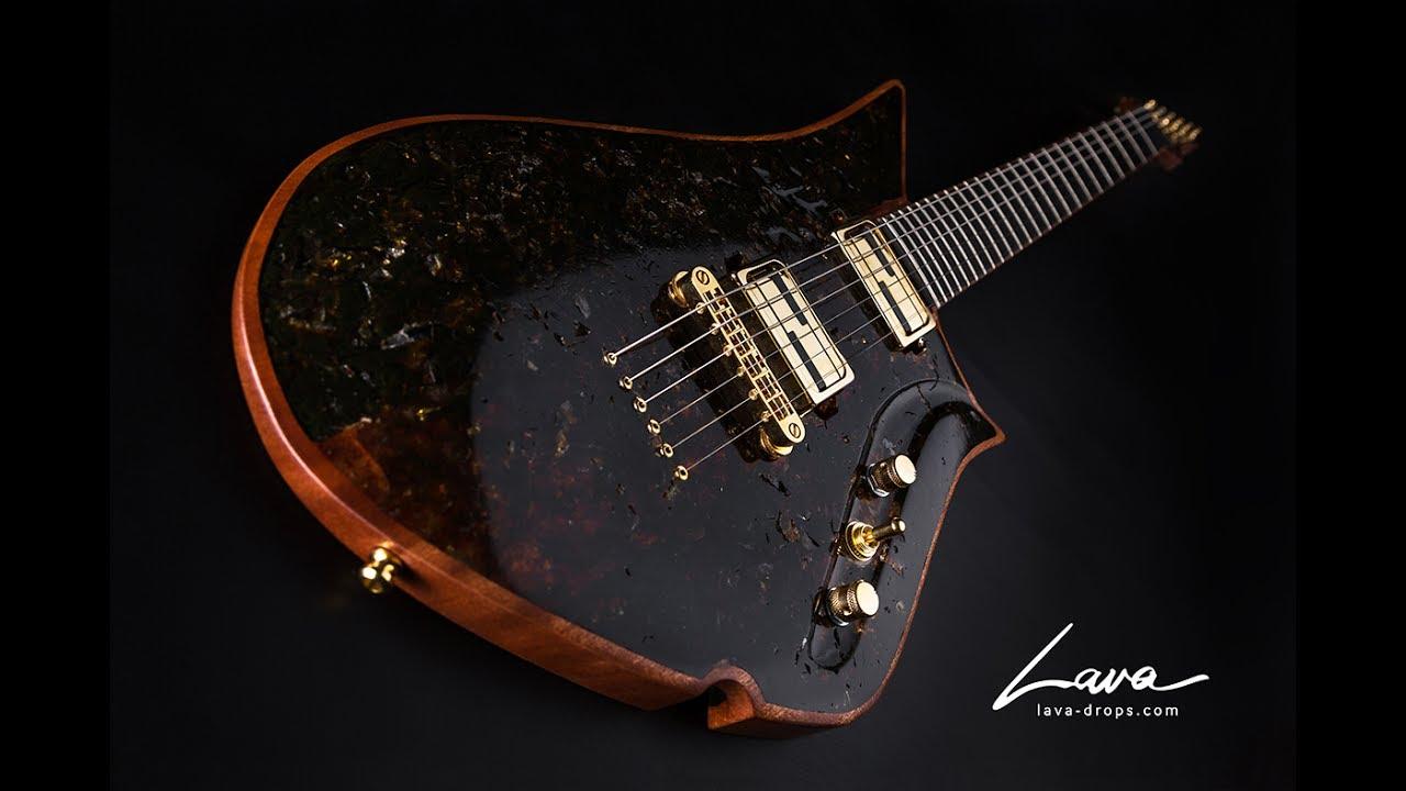 50 mln years old black amber guitar youtube. Black Bedroom Furniture Sets. Home Design Ideas
