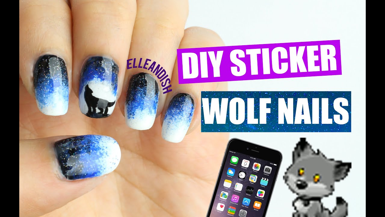 DIY WOLF NAILS.. WITH A PHONE?! - YouTube