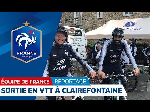 Equipe de France : Sortie en VTT pour les Bleus I FFF 2018