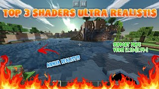 TOP 3 SHADERS MCPE SUPER ULTRA REAL ST S 2020