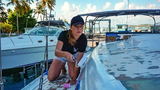Boat Yard Finally Painting DIY FAIL Sailing GBU