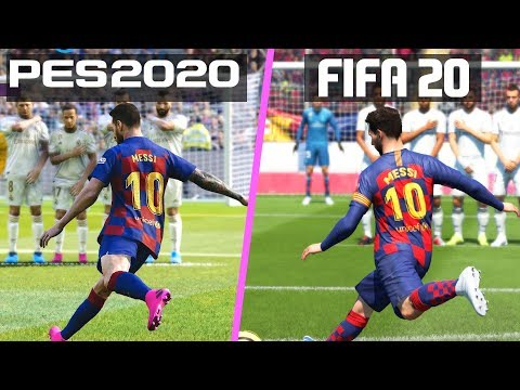 FIFA 20 Vs PES 2020 | Free Kicks Comparison