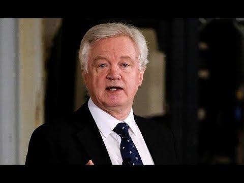 Brexit secretary Davis hits out at EU's scaremongering