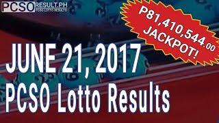 Lotto Result June 21, 2017 (6/55, 6/45, 4D, Swertres & EZ2)