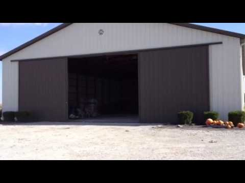Standard 30' Twin Doors on a Morton Barn