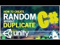 Random without Duplicate (Random Not Repeat) Unity3d C# Tutorial Tips