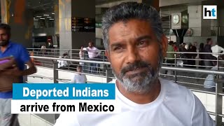 Over 300 Indians deported by Mexico arrive in New Delhi