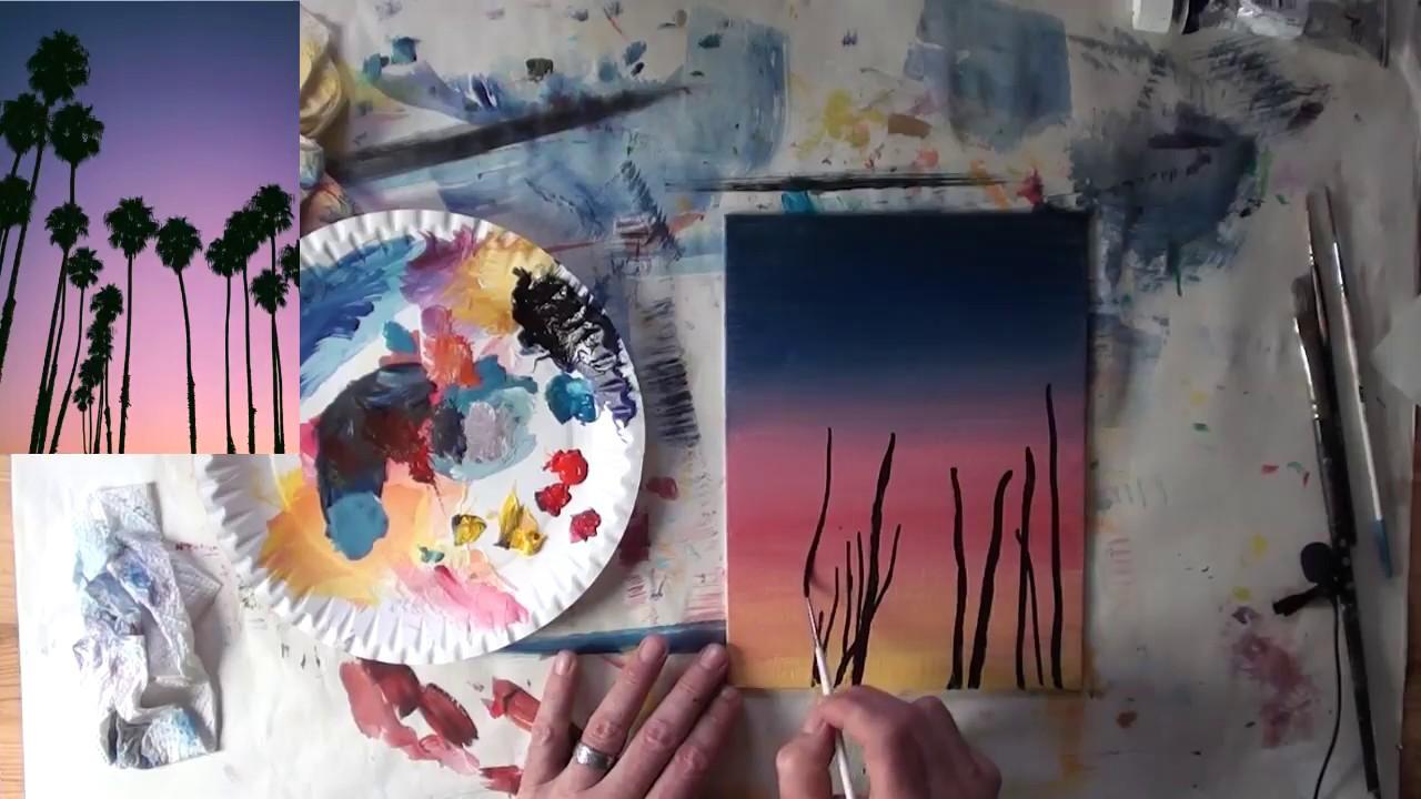 10 Minuten Malerei Magnolienblute Youtube Acryl Malen