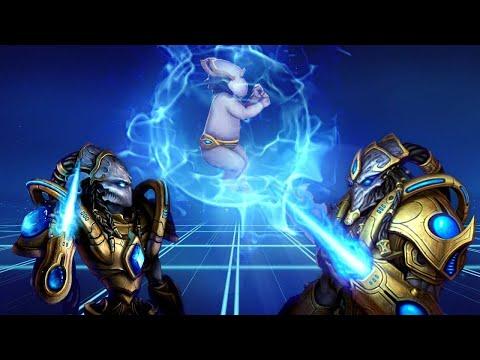 ★ Игра за протоссов - Первые игры на ладдере | StarCraft 2 с ZERGTV ★