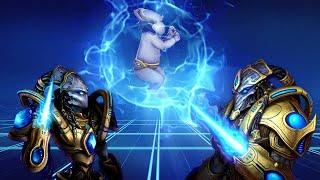 ★ Игра за протоссов - Первые игры на ладдере   StarCraft 2 с ZERGTV ★