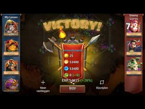 Castle Clash Insane Dungeon 7-2 Cleared