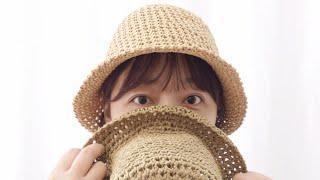 crochet hat | 코바늘 여름모자 뜨기! 기본으…