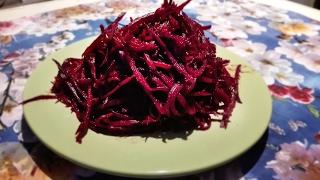 Корейский салат из свеклы/Свекла по-корейски/Корейская свекла/Очень вкусная свекла/