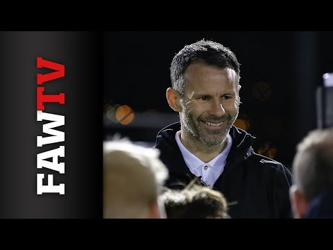 Football Legend Ryan Giggs Coaches Welsh Youngsters