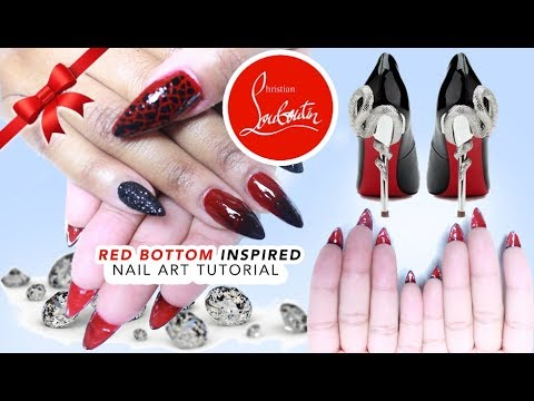 9c446ea3b50 Red Bottom Acrylic Nail Art Tutorial #9