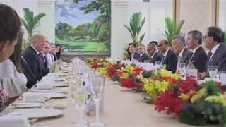 president donald j trump meets with the prime minister of singapore