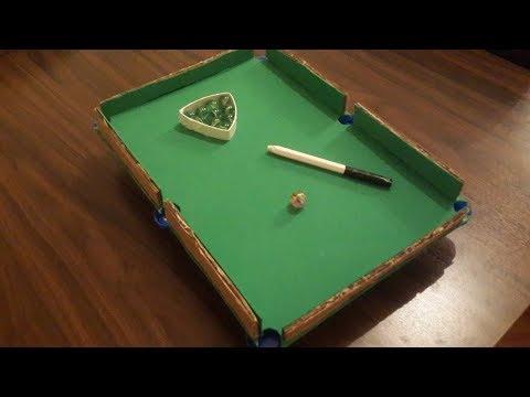 how-to-make-mini-billiard-pool-table