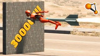 BEST of Rocket Ride Crashes 30.000 Subscribers Special - Beamng Drive