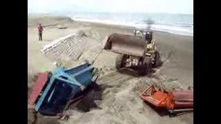 Demolition of Black Sand Mining Station, San Sebastian, San Vicente, Ilocos Sur, Aug. 7, 2013
