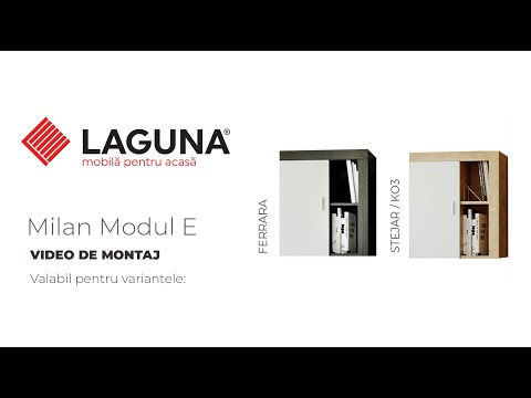 Video de montaj Living Milan Modul E Corp Suspendat