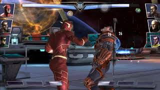 Injustice Mobile New 52 The Flash Super Moves and Powers No Commentary