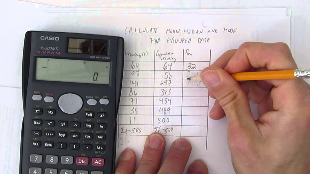 CALCULATE MEAN MEDIAN AND MODE FOR GROUPED DATA - YouTube [ 720 x 1280 Pixel ]