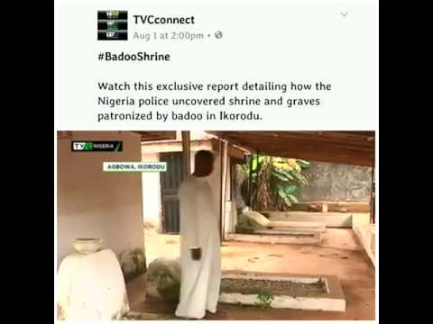 Nigerian police uncovered shrine and graves patronized by badoo in Ikorodu.
