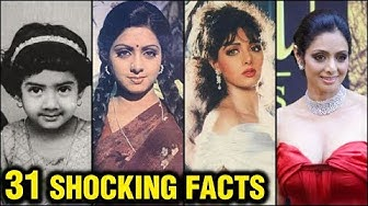 Sridevi 31 SHOCKING And UNKNOWN Facts | Lady Superstar | Happy Birthday Sridevi