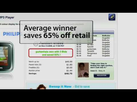 Swoopo Video FAQ - How Many Bids Does It Take To Win
