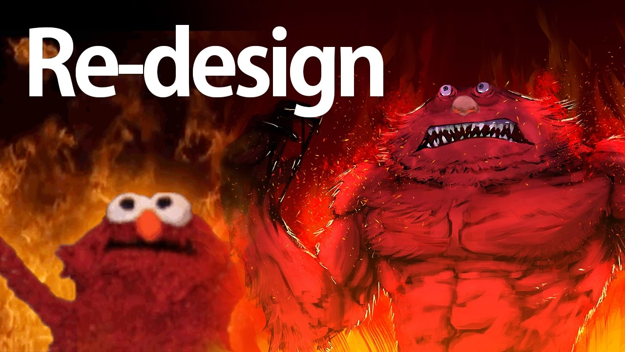 Speedpaint Burning Elmo Meme Redesign